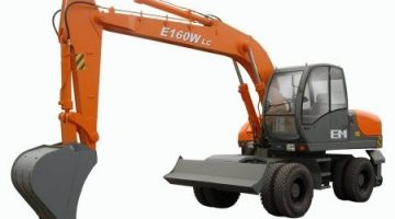 Экскаватор Е160W колесный, емкость ковша 1м3